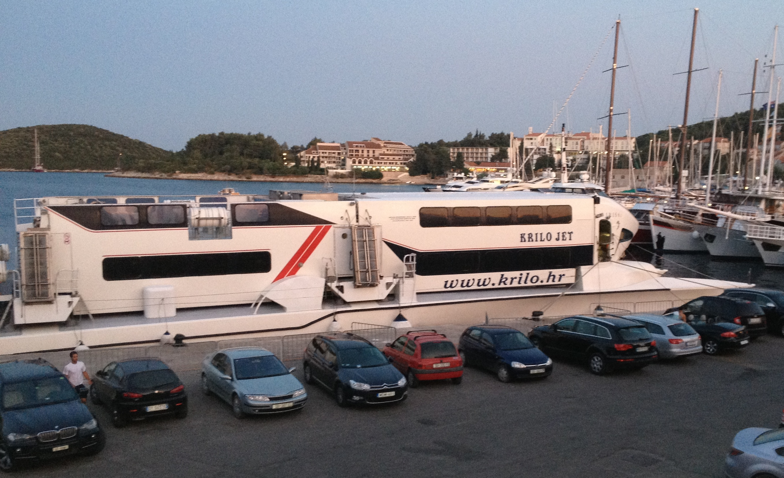 how to get from korcula to hvar